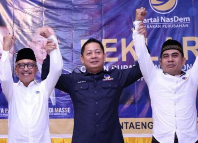 Nasdem Deklarasikan Paket Cabub dan Cawabub Bantaeng MY-RI
