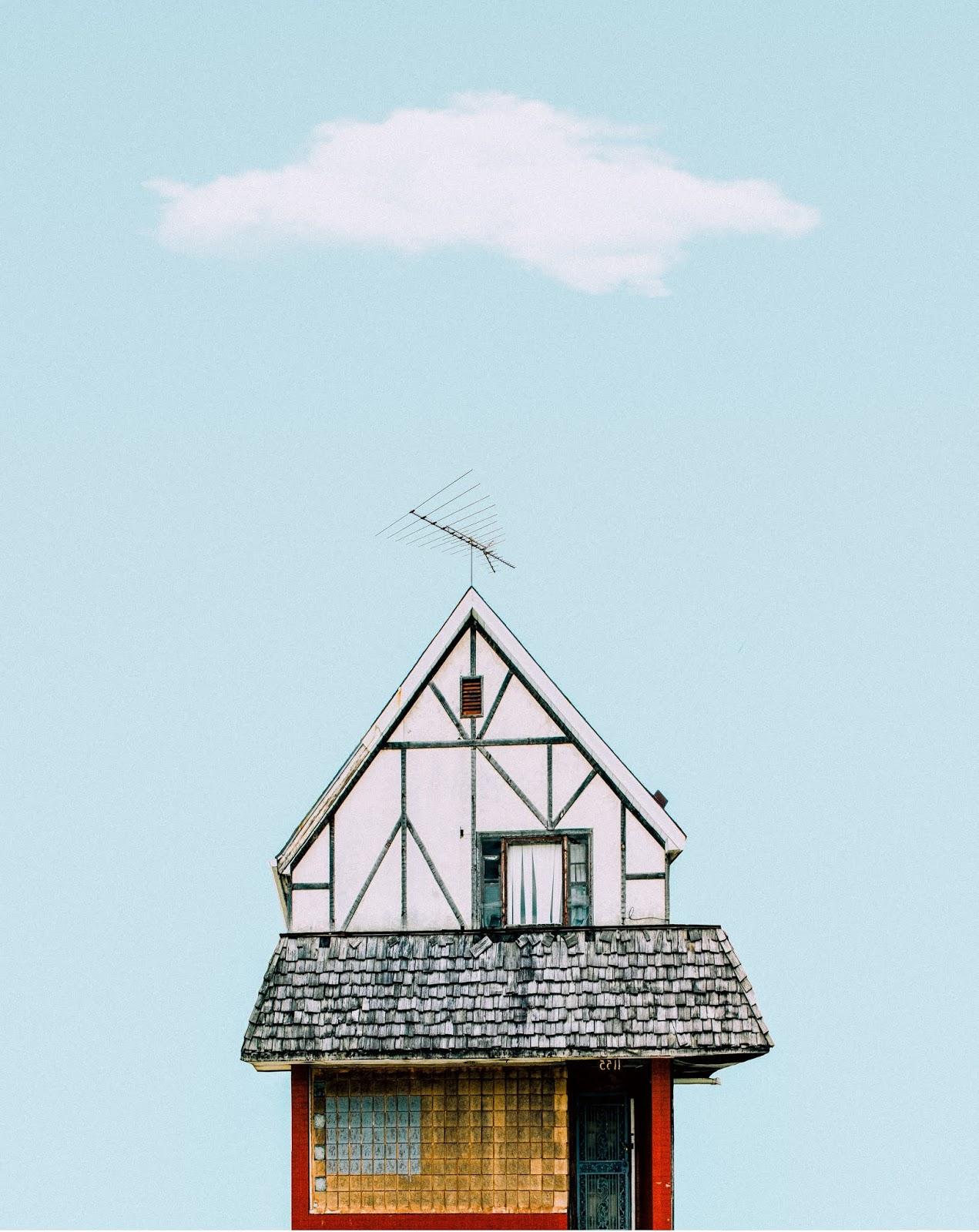 Casa azul y amarilla de Jeffrey Czum
