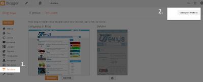 cara mengganti template blog dengan mudah