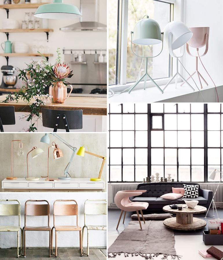 une d co pastel x industrielle louise grenadine blog. Black Bedroom Furniture Sets. Home Design Ideas