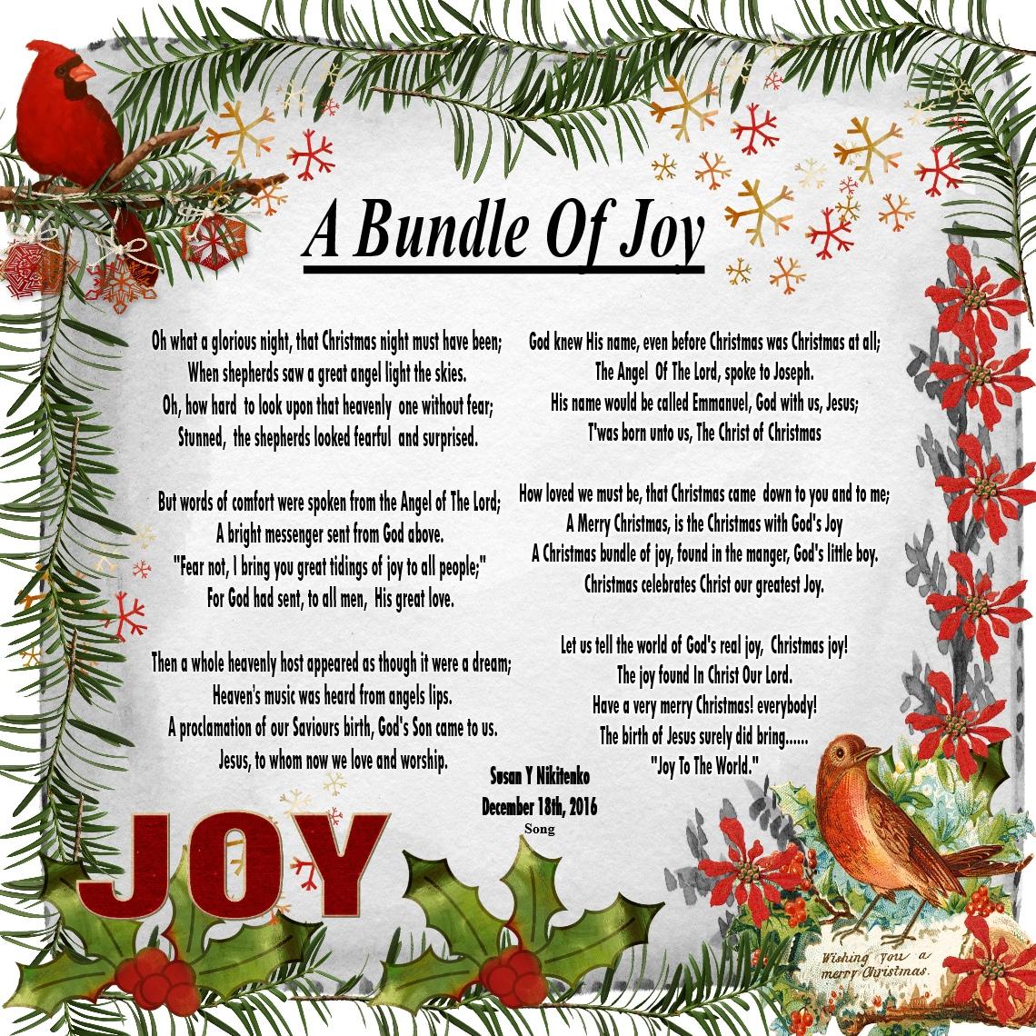 Christmas Rubies In My Treasure Box: A Bundle Of Joy - NEW