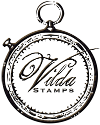 Button for the Vilda Stamps blog