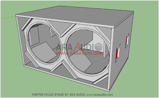 Ukuran Box Speaker Subwoofer Martim MS218