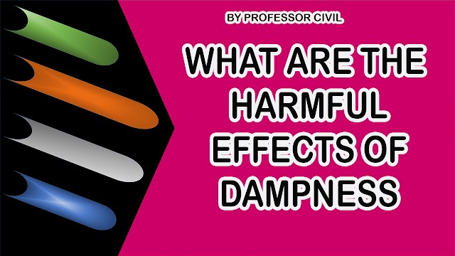 WHAT ARE THE HARMFUL EFFECTS OF DAMPNESS