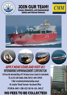 SEAMAN JOB Opening careers for Filipino seafarers crew join on VLGC, Oil Product, LPG Ammonia Tanker Ship deployment December 2018 - January 2019.