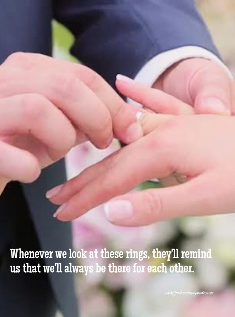 marriage couple wedding ring promise quotes