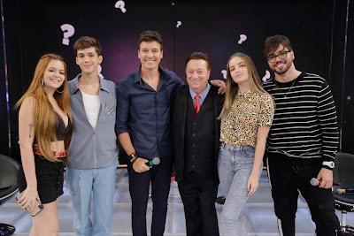 Viih, João Guilherme, Faro, Raul, Giovanna e T3ddy (Foto: Rodrigo Belentani/SBT)