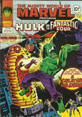 Mighty World of Marvel #304, Hulk and Dr Strange vs Paragon