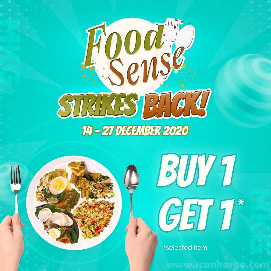 Promo Food Sense Strikes Back – Buy 1 Get 1 for Selected Item*
