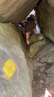 crawling through caves on mt morgan
