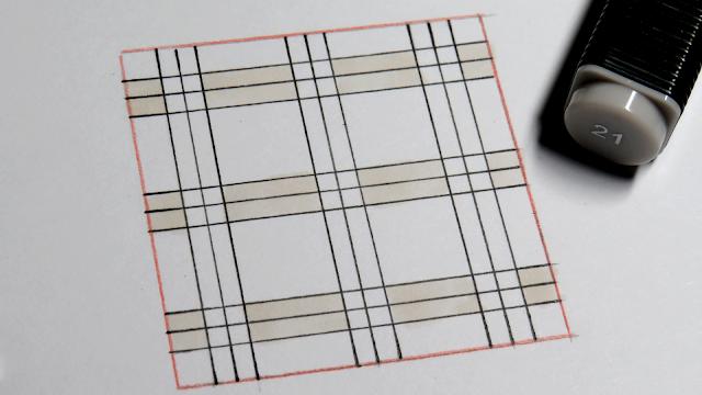 Líneas horizontales coloreadas en beige claro