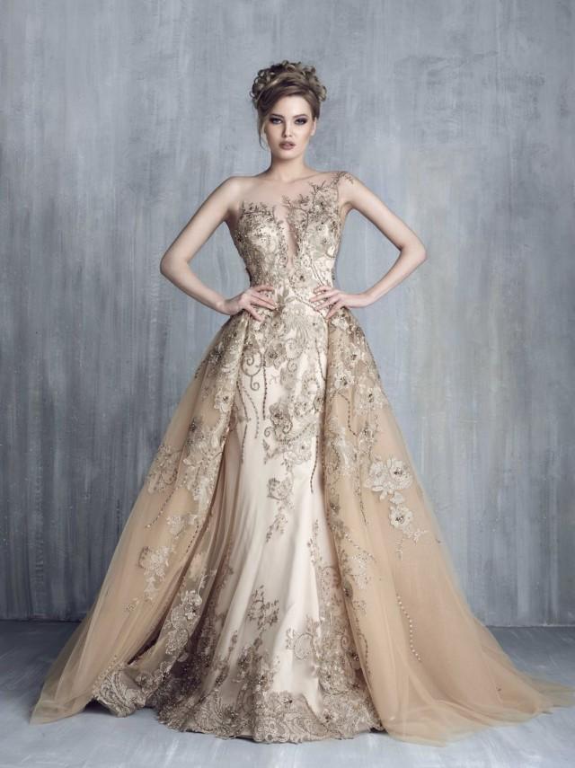 Vestidos de moda dorados