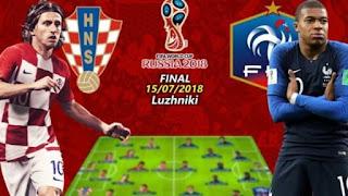اون لاين مشاهدة نهائي مباراة فرنسا وكرواتيا بث مباشر 15-7-2018 نهائيات كاس العالم اليوم بدون تقطيع