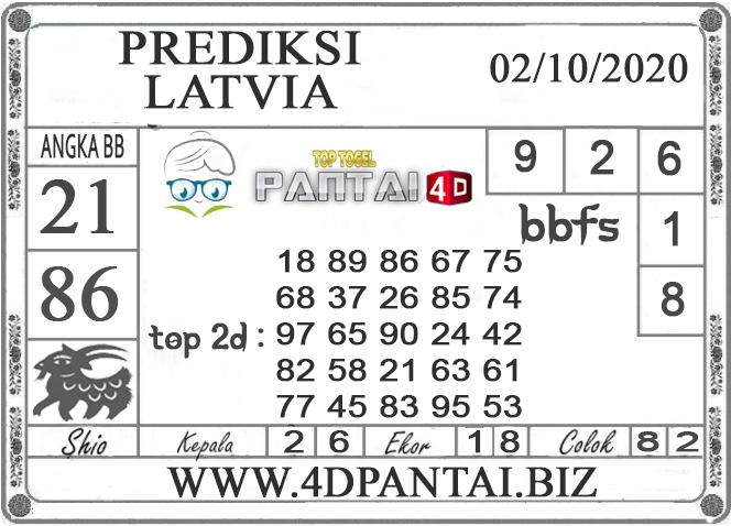 PREDIKSI TOGEL LATVIA PANTAI4D 02 OKTOBER 2020