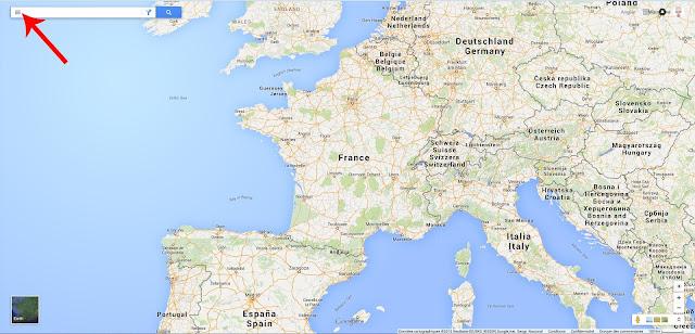 Menu Google Maps