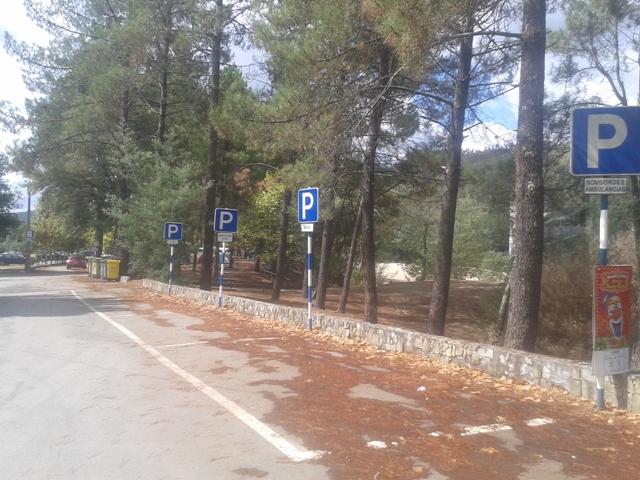 Parque estacionamento reservado