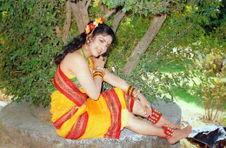 Juhi Chawla In Yellow Village Gilr Dress