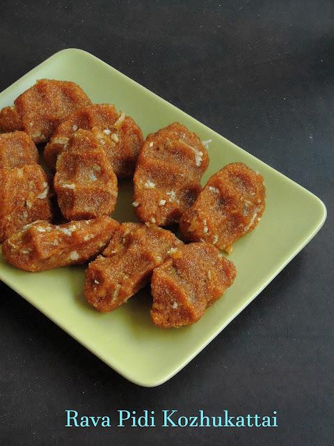 Semolina Jaggery Sweet Dumplings, Rava Pidi Kozhukattai