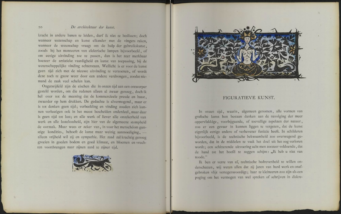 double book page with header motif