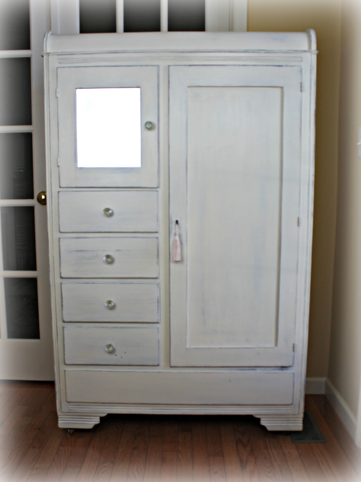 1940's chifferobe painted in Old White