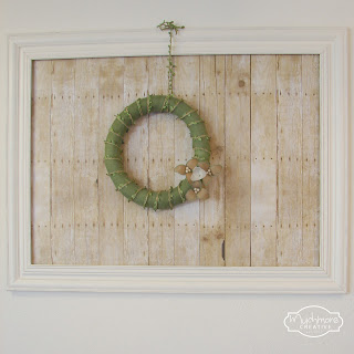 diy rustic frame tutorial