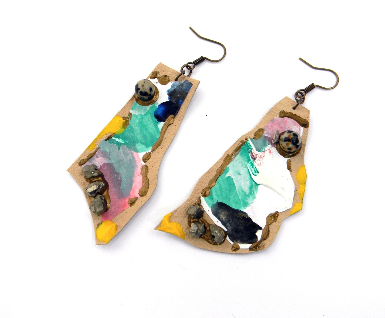 Unique Jewelry Handcrafted Earrings Abstract Art Jewelry Original Design