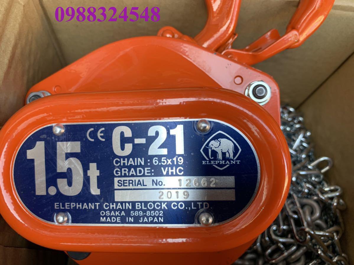 Pa lăng kéo tay Elephant C21-1.5 1500kg