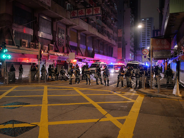 Police at Sai Yeung Choi Street South