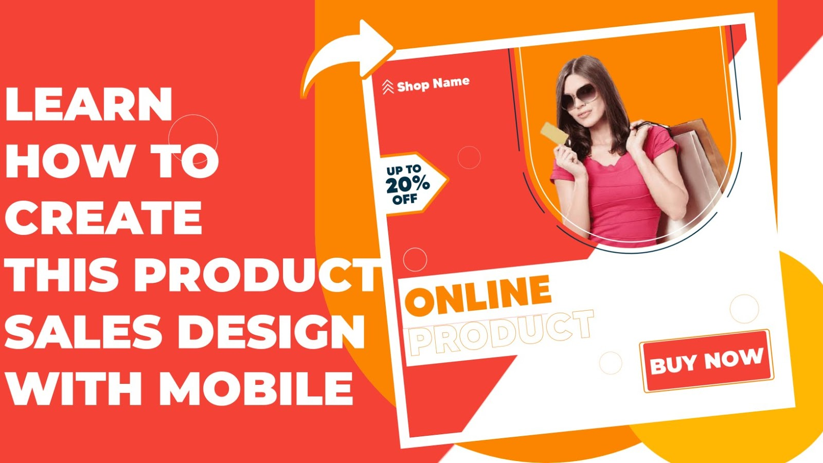 How To Create Graphic Design For Product Poster With Mobile