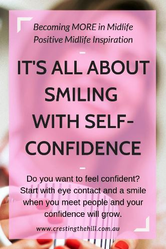 How do we develop self-confidence? The two key starting points are eye contact and a smile. Confidence grows with every positive interaction we have. So look up and smile! #lifeinspiration