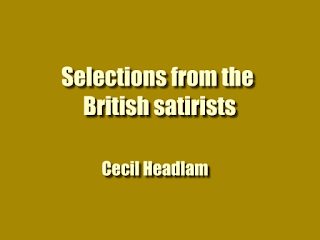 Selections from the British satirists