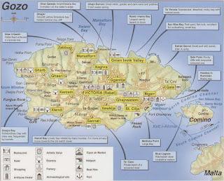 Mapa de Gozo.