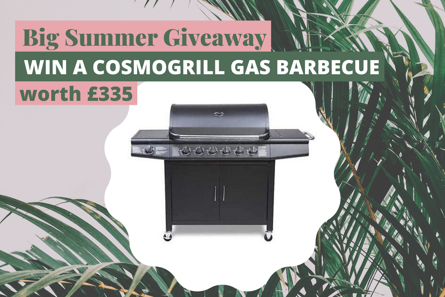 CosmoGrill Barbecue 6+1 Pro Gas Grill BBQ worth £335