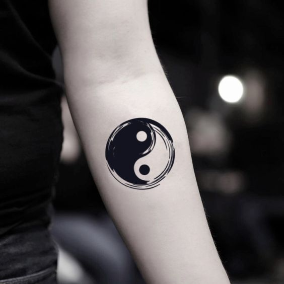 Yin Yang Tattoo design Sleeve