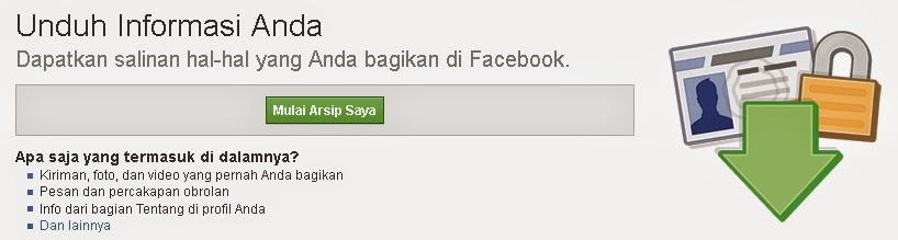 Cara mendownload salinan data facebook