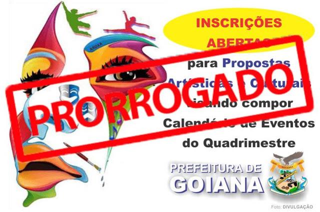 Prefeitura de Goiana prorroga prazo de inscrição da convocatória de propostas artísticas