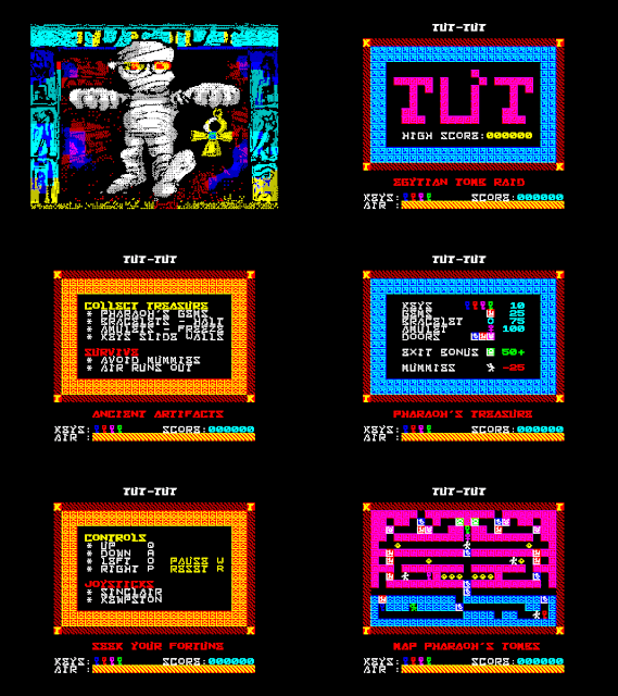 TuT-TuT for the ZX Spectrum Screen Shots