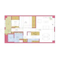 若い夫婦と新しい暮らしのためのマンションリフォーム
