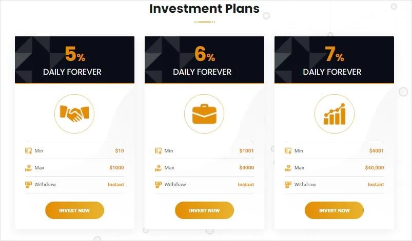 Инвестиционные планы PayRush