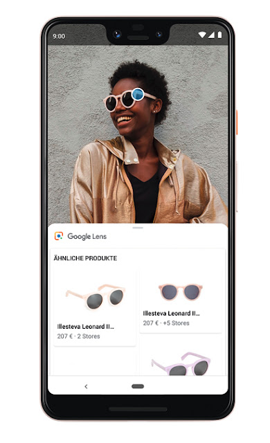 Ein Screenshot von Google Lens