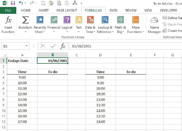 How to make a to-do list in excel
