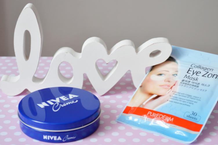 skin care products, georgiana quaint, purederm eye zone mask, nivea thick night cream, vichy idéalia day cream, rose oil saloon, mink cream cosmetica