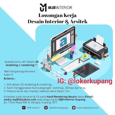 Lowongan Kerja MJB Interior Sebagai Desain Interior dan Arsitek