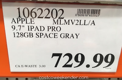 Deal for the 128 GB iPad Pro at Costco