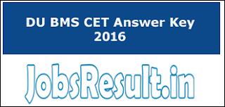 DU BMS CET Answer Key 2016