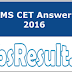 DU BMS CET Answer Key 2016 Download Paper Solution PDF