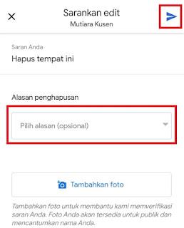Cara hapus alamat rumah di google map