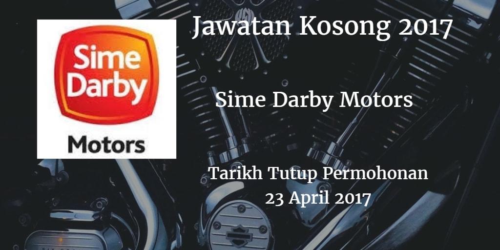 Jawatan Kosong Sime Darby Motors 23 April 2017