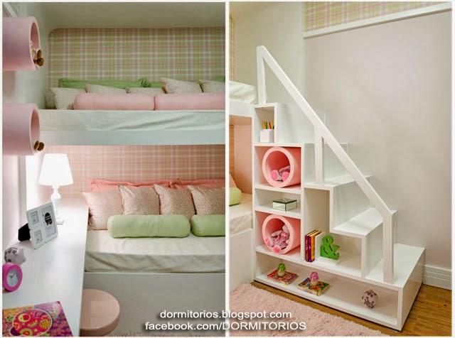 Dormitorio colores pastel - Dormitorio para dos ninas ...