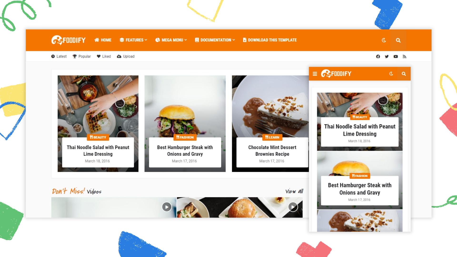 foodify-premium-blogger-template